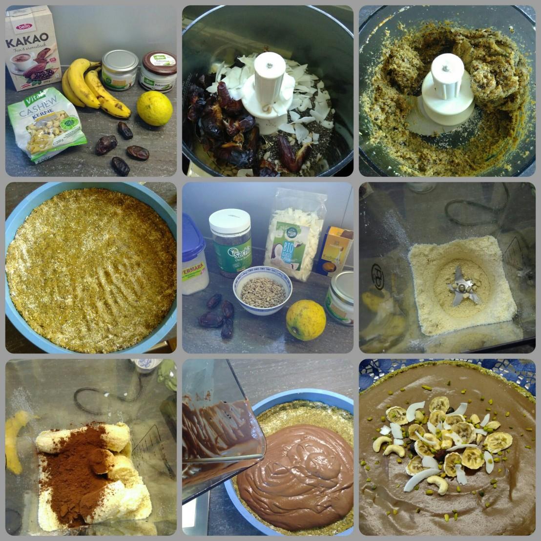 Kokos Bananen Torte rohvegan – GREENiki