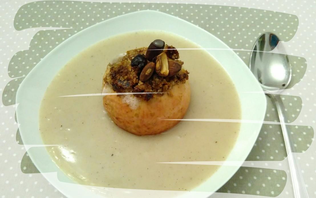 >Bratapfel mit Vanillesauce(vegan)<