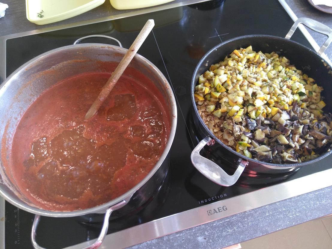 Sugo mit gegrilltemGemüse