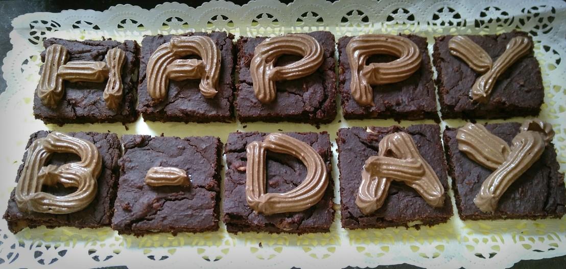 Bohnen Brownies mit Aquafaba SchokoCreme
